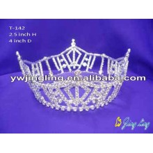 Full Round Pageant Crown Tiaras