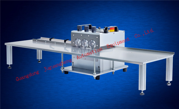 3 pole tylpe JGH-213 PCB cutting machine with 1.2m platform