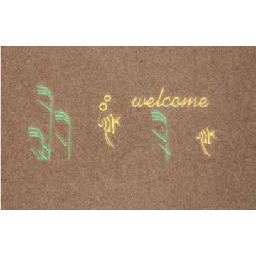 Hotel front embroidery door mats mat with pattern