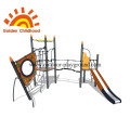 Child outdoor playground equipment combination balance beam