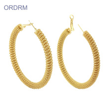 Cheap Cool Gold Extra Large Hoop Earrings