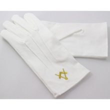 Free White Cotton Glove Wholesale Masonic Gloves