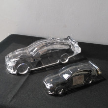 Elegant Home Decor Crystal Glass Car Model