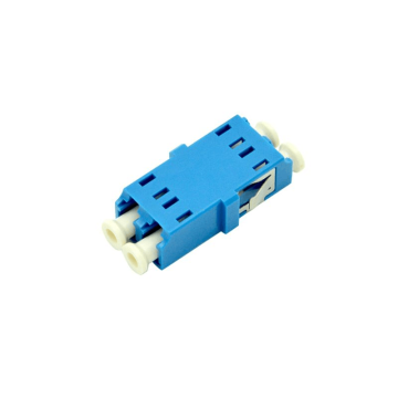 LC/UPC Singlemode Duplex Fiber Optic Adaptor With Flange