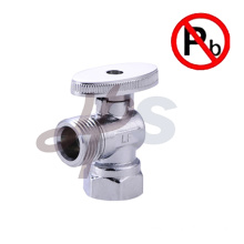 Brass supply valve chrome plated