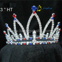 Red And Blue  rhinestone custom patriotic crowns