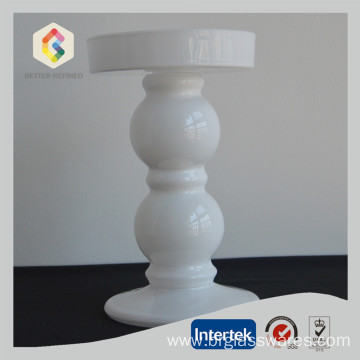 Wholesale Price China for Large Pillar Holders Beaded Shaped Glass Pillar Stand supply to South Korea Manufacturer
