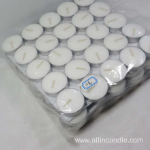 Factory supply smoke free white tealight candle