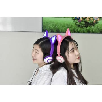 Leading for Fox Ear Headphones Sensitivity 103dB cute cheap headphone with colorful light export to Northern Mariana Islands Supplier