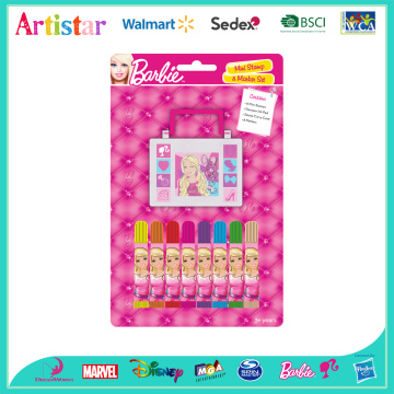 Barbie mini stamp&marker set
