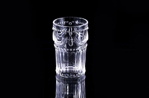 Handpressed Series Of Water Drinking Glass Connected Heart Glass
