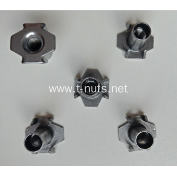 Wood  Zinc Plated Hopper Feed T-nuts