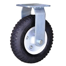 Hot sale reasonable price for Pneumatic Rubber Caster Wheel 8 inch heavy duty pneumatic wheel casters supply to Hungary Suppliers