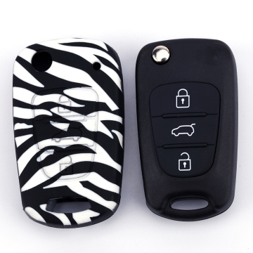 Kia Silicone 3 Boutons Flip Key Fob Cover