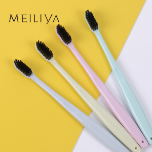 Candy-colored toothbrush MUJI Bamboo charcoal toothbrush