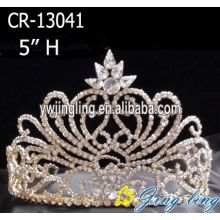 Hot Fashion Rhinestone Crystal 5 Inch Pageant Crowns