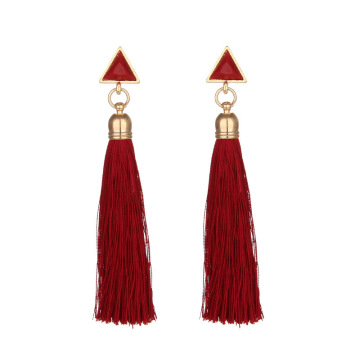 Statement white cream tassel earrings cheap