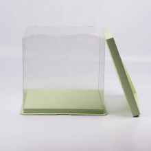 Rectangle Disposable Plastic Wedding Cake Box Packaging