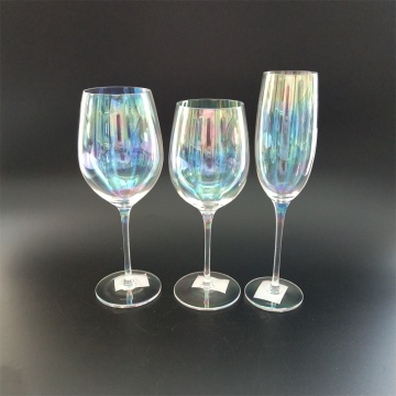Machine made pearl finish wine glass