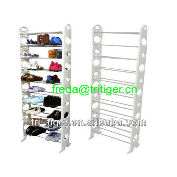 10-tier Shoe Tower Rack Metal Shoe Organizer Space Saving Fashion Shoe Racks
