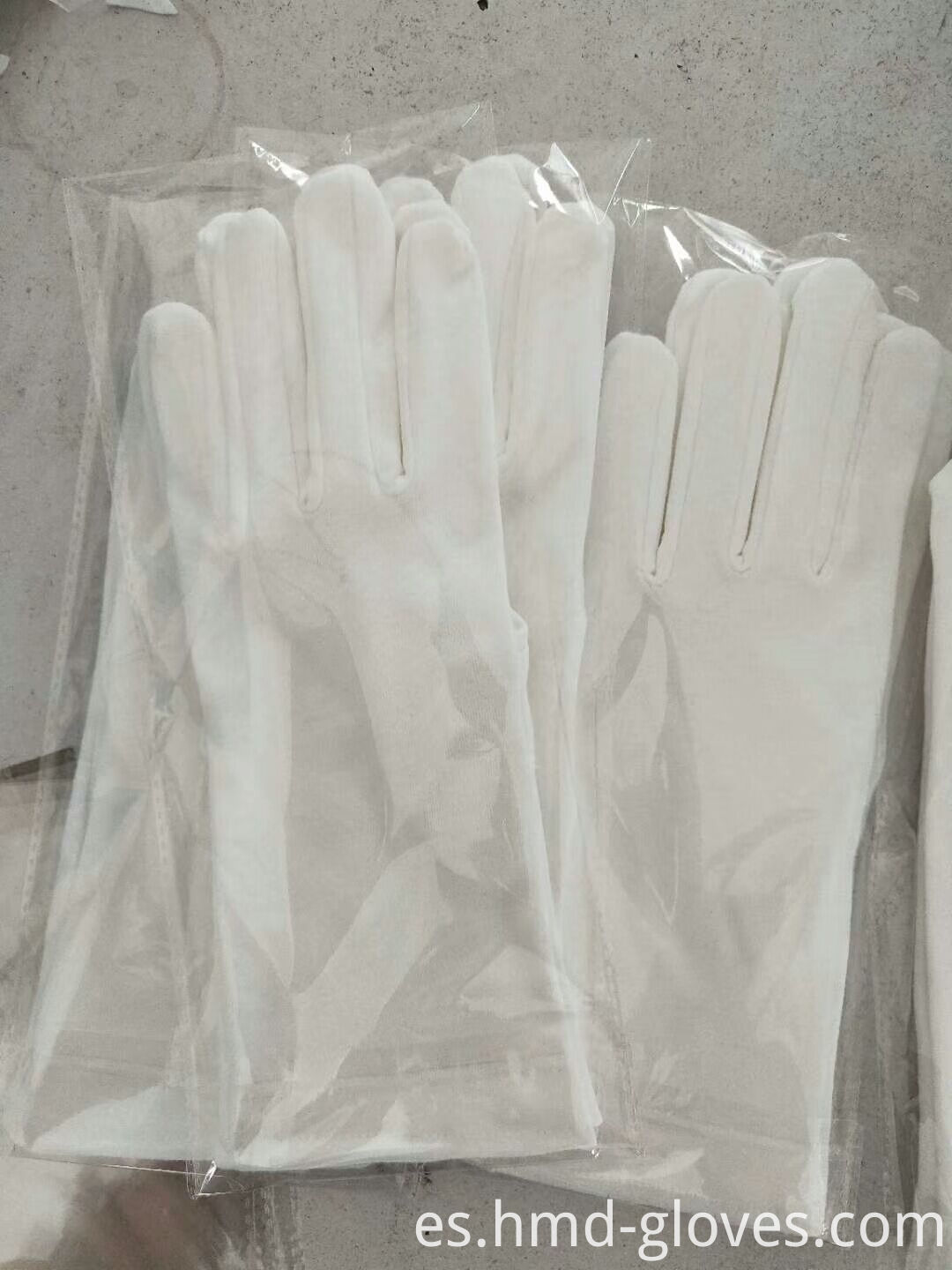 Cotton Glove Factory White