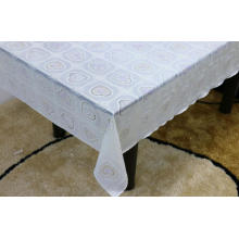 Printed pvc lace tablecloth by roll iron