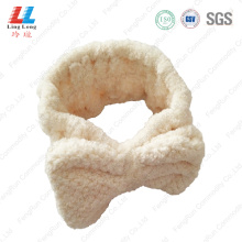 White facial washing headband