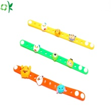 Promotional Gift Adjustable Cartoon silicone bracelet