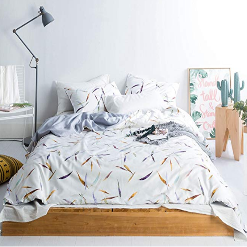 Organic Cotton Sateen Printed Duvet Covers
