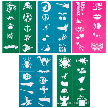 Reuse soft easy face paint stencils for children