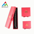 Card Paper Red Jewelry Box with Ribbon