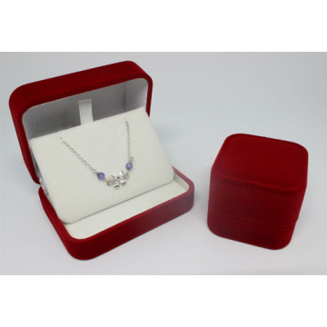 hot sale velvet ladies necklace jewelry box