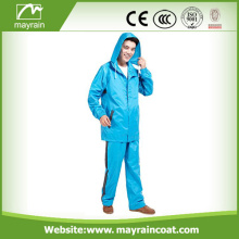 Durable Polyester Motorcycle Rainsuit With Hood