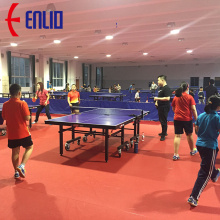 Factory Outlets for PVC Tennis Sports Flooring Indoor Table Tennis Floor with ITTF supply to Italy Factories