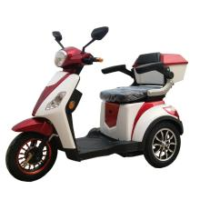 Adult three wheel electric scooter with seat