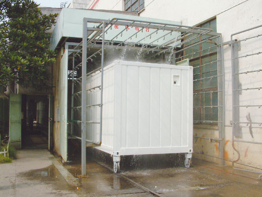 water tightness test for Prefab Workshop Container Type