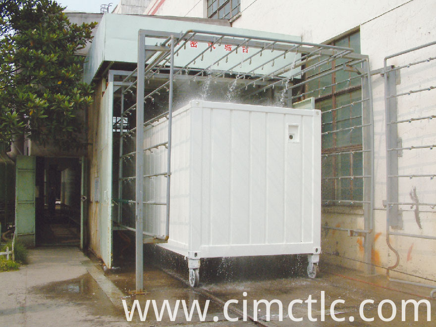 water tightness test for Low Noise Container Integrated Type