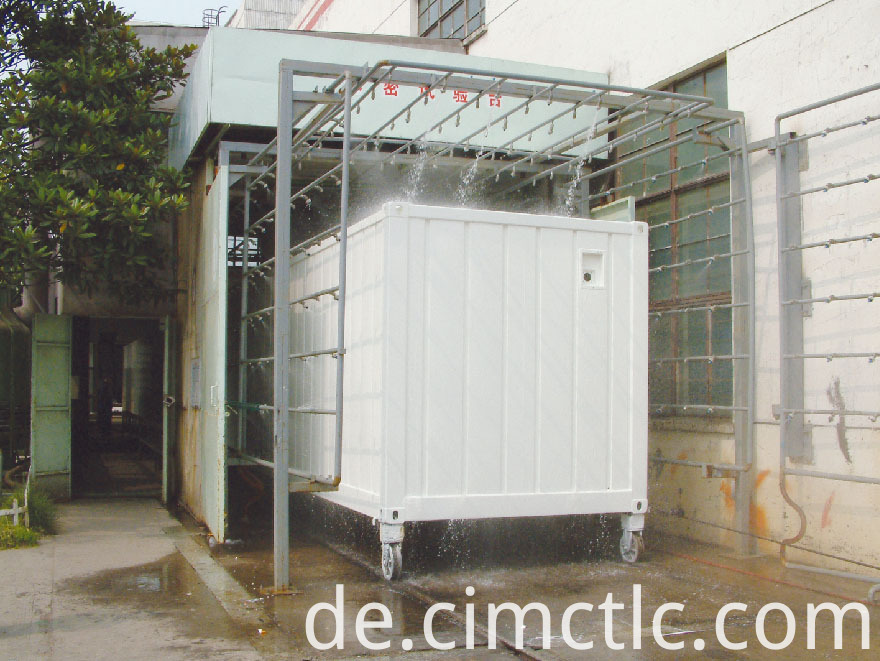 water tightness test for Modular Hotel Container Type
