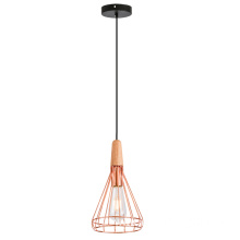 Wooden Metal shade pendant Light  S size