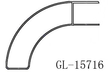 Aluminum Lateral Protection Bar for Truck Spare Parts GL-15716