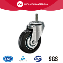 4'' Threaded Stem Swivel Rubber Iron Core Industrial Caster