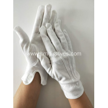 White Snap Cuff Cotton Gloves