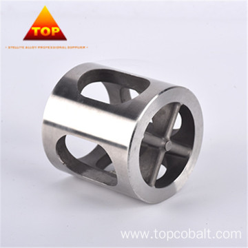 Cobalt chrome alloy flapper type float valve cage
