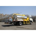 Asphalt distributor for road construction