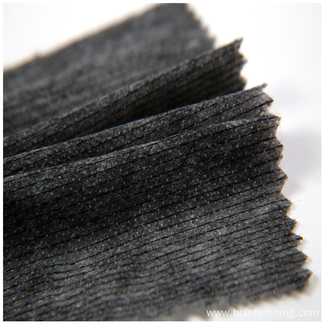 100% nylon weft insert nonwoven interlining for garment