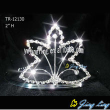 Silver Plated Flower Tiaras Hair Jewelry