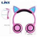 Wholesale colorful Cat Ear Headphones with LED Light