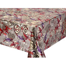 Kmart Double Face Emboss printed Gold Silver Tablecloth