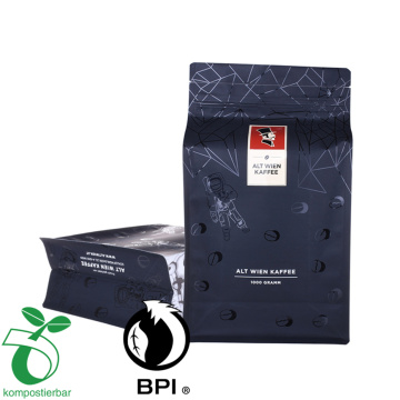 Square Bottom Coffee Bag With Easy Tear-Off Zipper