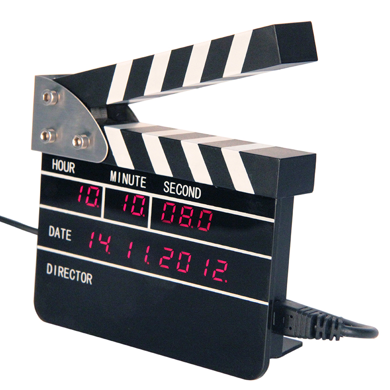 Mini Movie Clap Digital Clock